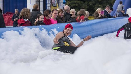 Thousands of people turned out to Earlham Park to test their stamina on a Gung-Ho! inflatable obstac