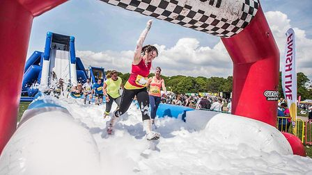 The Gung-Ho! inflatable obstacle course. Picture Chris Payne Images.