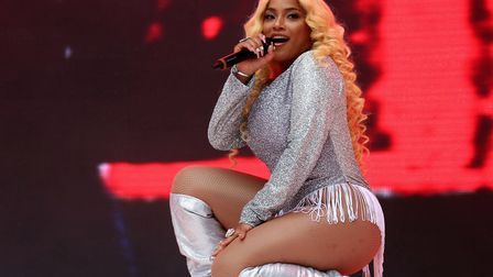 Stefflon Don on stage during Capital's Summertime Ball with Vodafone at Wembley Stadium, London. Pho