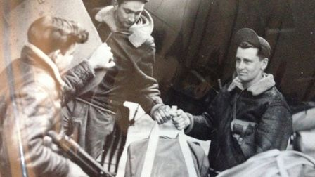 Clifford Hardestry (right) during the Second World War - photo supplied by Pamela Hardesty