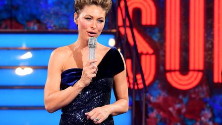 Presenter Emma Willis during the live final of Celebrity Big Brother at Elstree Studios. Picture Ian