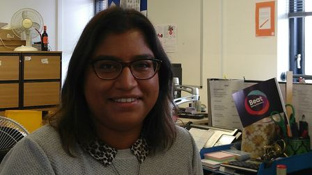 Neha Matkar, finance assistant for Beat who will be taking part in the 10,000ft skydive in aid of th