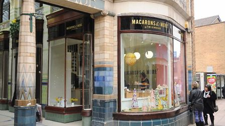 Tim Kinnaird's shop, Macarons and More, at the Royal Arcade. Picture: Denise Bradley