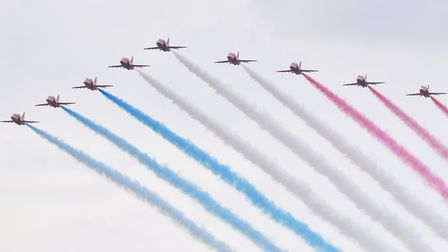The Red Arrows at the Great Yarmouth Airshow. Picture: Nick Butcher