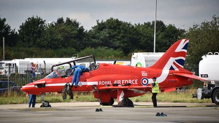 Red Arrows at SaxonAir, at Norwich Airport.Picture: ANTONY KELLY