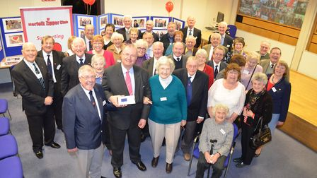 The Norfolk Zipper Club celebrate reaching their £1million target for Papworth Hospital in Cambridge
