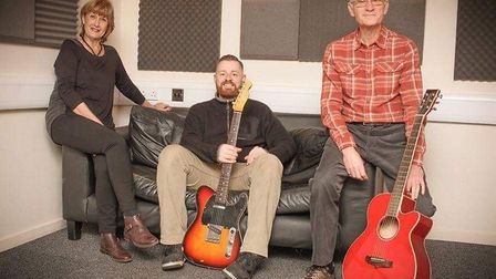 Carol Nicholls, Justin Brand and Mike Lee of The Red Ant Band