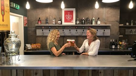 Redwell Brewery has opened a permanent taproom bar complete with 10 beers on tap. Picture: Ella Wilk