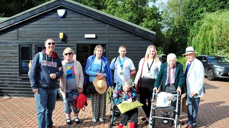 Staff and residents at Manorcourt Homecare in Norwich enjoy a trip on the Broads.