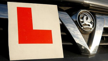 Learner driver's L plates on a car. Picture: Denise Bradley