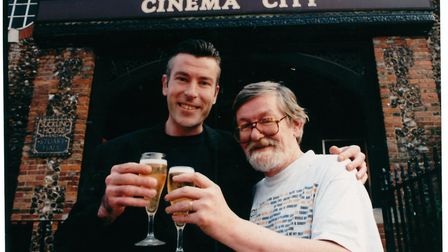 Norfolk at the Cinema. Pictured: David Litchfield and Kingsley Canham. Date: 1998. Picture: Supplied