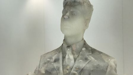 A self portrait made by Doron Beuns, visual artist at Norwich University of the Arts. PHOTO: Victori