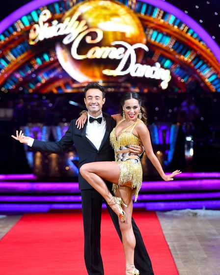 Joe McFadden and Katya Jones during the Strictly Come Dancing Live Tour Launch earlier this year. Pi