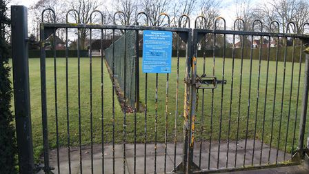 The Heigham Park grass tennis courts which the city council are proposing to turn into all weather c