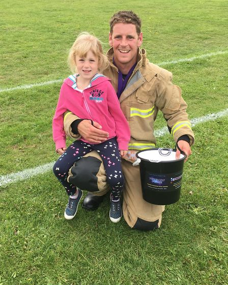 Firefighter Mark Matless who completed a duathlon in full firefighting gear as part of the sports da
