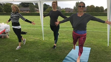 Hethersett's Rowan House Centre, a health and wellbeing centre, supported the sports day. Pictured a