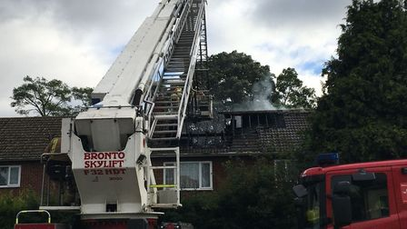 House fire at Mousehold Lane in Norwich. Picture Dan Grimmer.