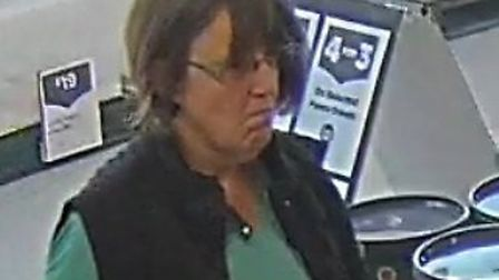 Police have issued a CCTV image of a woman they would like to speak to after a shower was stolen fro