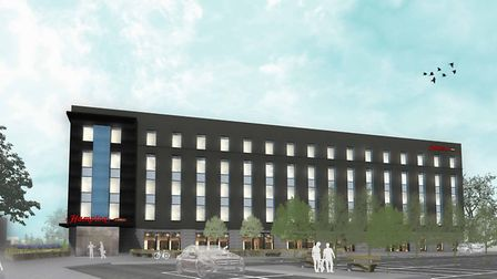 Architect impressions of how the new Hampton by Hilton hotel in Norwich may look. Photo: ICA Archite