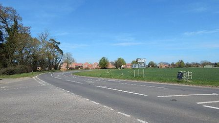 The proposed site off the Thetford Road, for 180 homes in Watton. Picture: Submitted