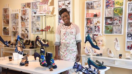 Milly Jupp of Milly J Shoes in her new shop on Tombland. Photo: Sonya Duncan