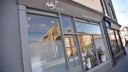 The new Milly J Shoes store in Tombland. Photo: Sonya Duncan