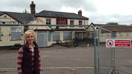 Joanna Francis, 55, is the daughter of The Griffin's former landlords and was born in its back bedro