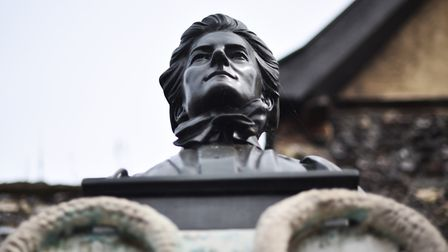 Photo essay. Norwich statues. The Edith Cavell memorial statue in Tombland. Picture : ANTONY KELLY
