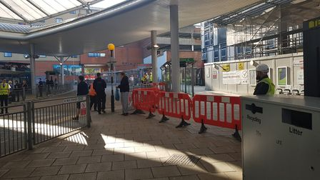 Part of Norwich bus station has been closed. Photo: Staff