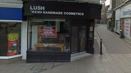 The Lush store on Gentleman's Walk in Norwich. Picture Google.