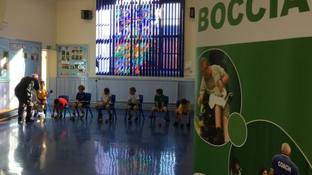 Pupils at Browick Road Primary School experienced a new sport thanks to a visit from Boccia coach Ro