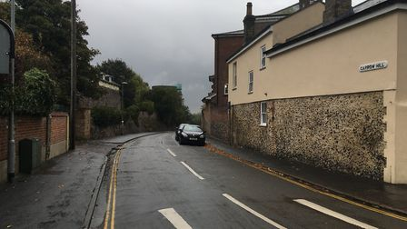 Carrow Hill in Norwich. Police are appealing for a passer-by who helped a woman who was being attack