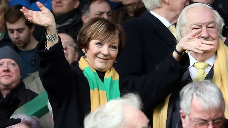 Television chef and Norwich City majority shareholder Delia Smith never misses a match but she will