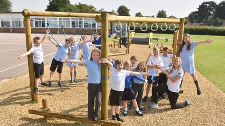 The opening of the new trim trail at Kinsale Junior School in 2017. The school is joining the Wensum