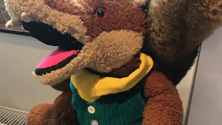 Basil Brush toy recieved by EACH from Caroline Clancy, a mother-of-two and former teacher who lives