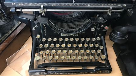 Typewriter recieved by EACH. Picture: EACH