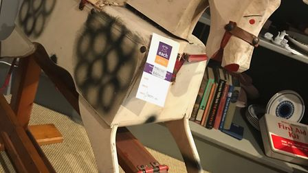 The rocking horse recieved by EACH from Caroline Clancy, a mother-of-two and former teacher who live