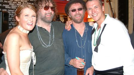 Chas and Dave at the Unthank Arms withDarren Smith and Sharon Morgan at their wedding celebrations