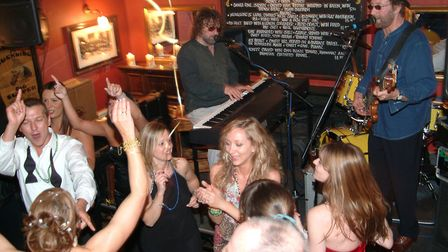 Chas ands Dave at the Unthank Arms duringDarren Smith and Sharon Morgan's wedding celebrations