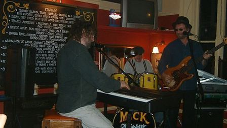 Chas ands Dave at the Unthank Arms during Darren Smith and Sharon Morgan's wedding celebrations