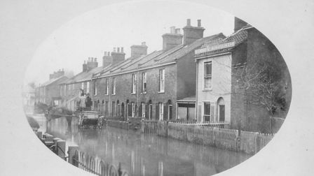 The Norwich floods of 1878 where Bellman William Childerhouse stood on a plank to shout out his mess