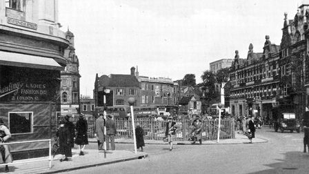 Orford Place and Red Lion Street as pictured in the City of Norwich Plan 1945. Photo: Archive