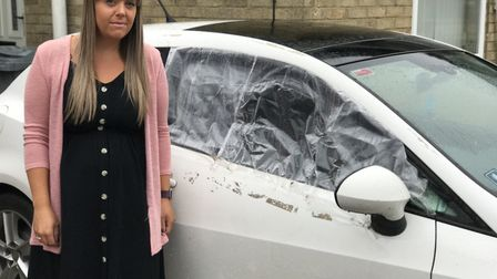 Lynsey Hannant's car was targetted by thieves on her birthday while parked at Bishopgate. Picture: N