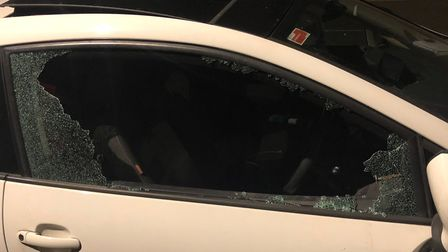 Lynsey Hannant's Seat Ibiza was broken into on Bishopgate in Norwich on evening of Monday September