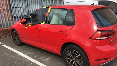 Eight vehicles - including an Audi RS4 and a BMW - were broken into at St Mary's Works in the city c