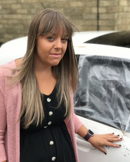 Lynsey Hannant from Hellesdon was shocked to see her car had been broken into on her birthday.Pictur