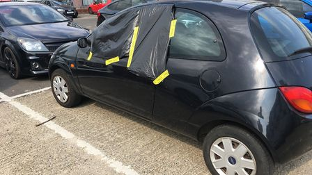 Eight vehicles were broken into at St Mary's Works car park in July. Photo: Luke Powell