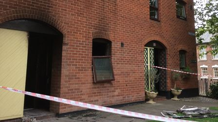 The aftermath of a fire which tore through a Norwich house,. Picture: Staff
