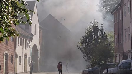 Fire in Coslany Street, Norwich (Image: George Fayers)