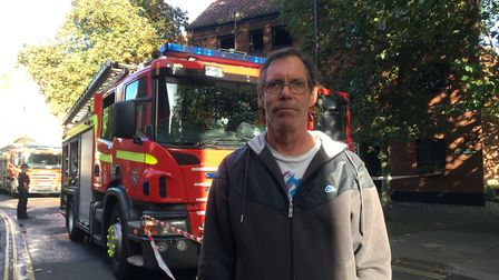 Simon Rose, who witnessed the Coslany Street fire.Picture: Staff